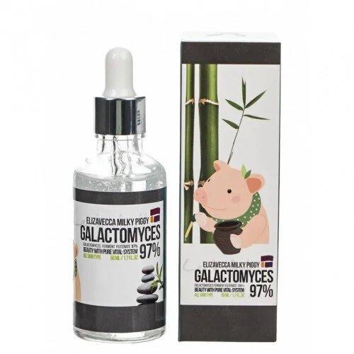 Успокаивающая сыворотка для проблемной кожи лица Elizavecca Milky Piggy Galactomyces Ferment Filtrate 97% 50мл (8809418752400)