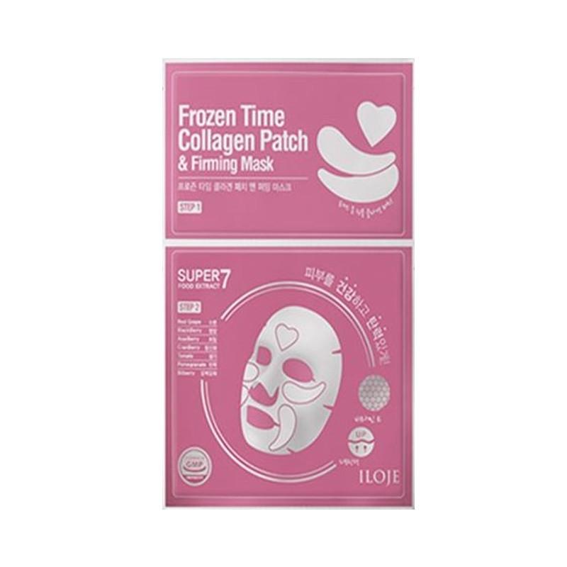 Укрепляющая маска для лица с тающими патчами 2в1 Konad Iloje Frozen Time Collagen Patch & Firming Mask (8809433726646)