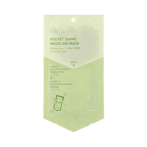 Альгинатная увлажняющая маска для лица с зеленым чаем Innisfree Pocket Shake Modeling Mask Green Tea 1 шт (8809560270456)