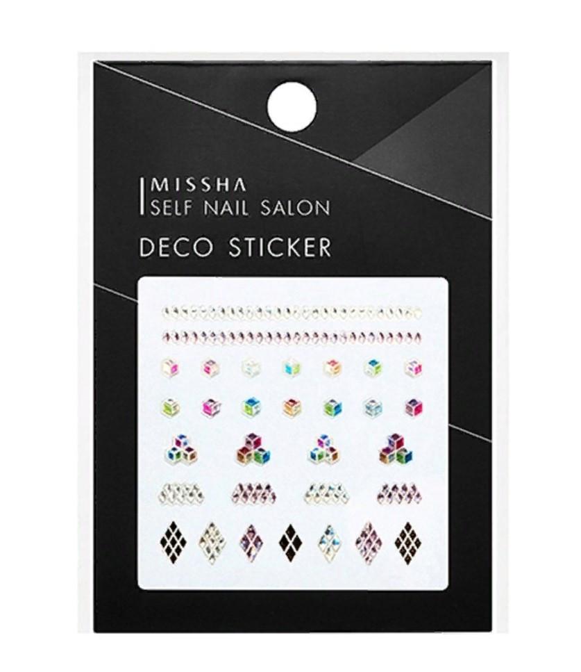 Декоративные стикеры для маникюра Missha Self Nail Salon Deco Sticker No.5/Cube Holic 1 шт (8809530039519)