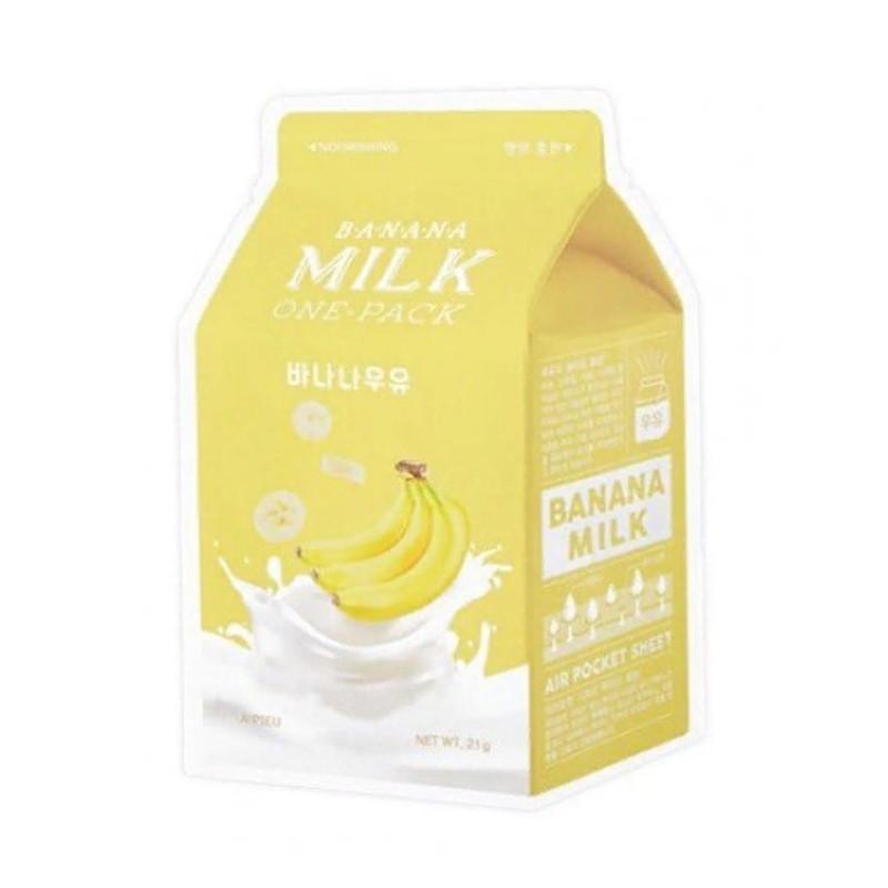 "Увлажняющая молочная маска для лица ""Банан"" A'pieu Banana Milk One-Pack 21 мл (8806185797573)"