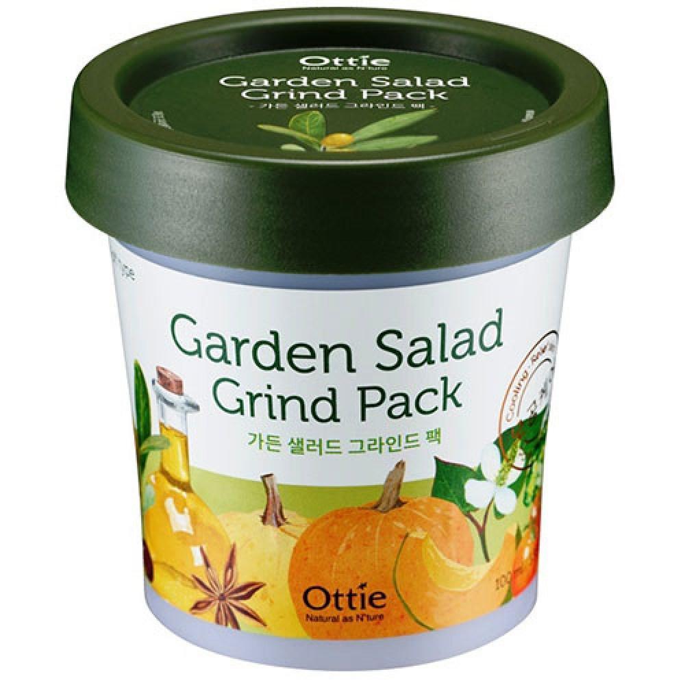 Глиняная маска для яркости тона кожи с растительным комплексом Ottie Garden Salad Grind Pack 100 мл (8809276015037)