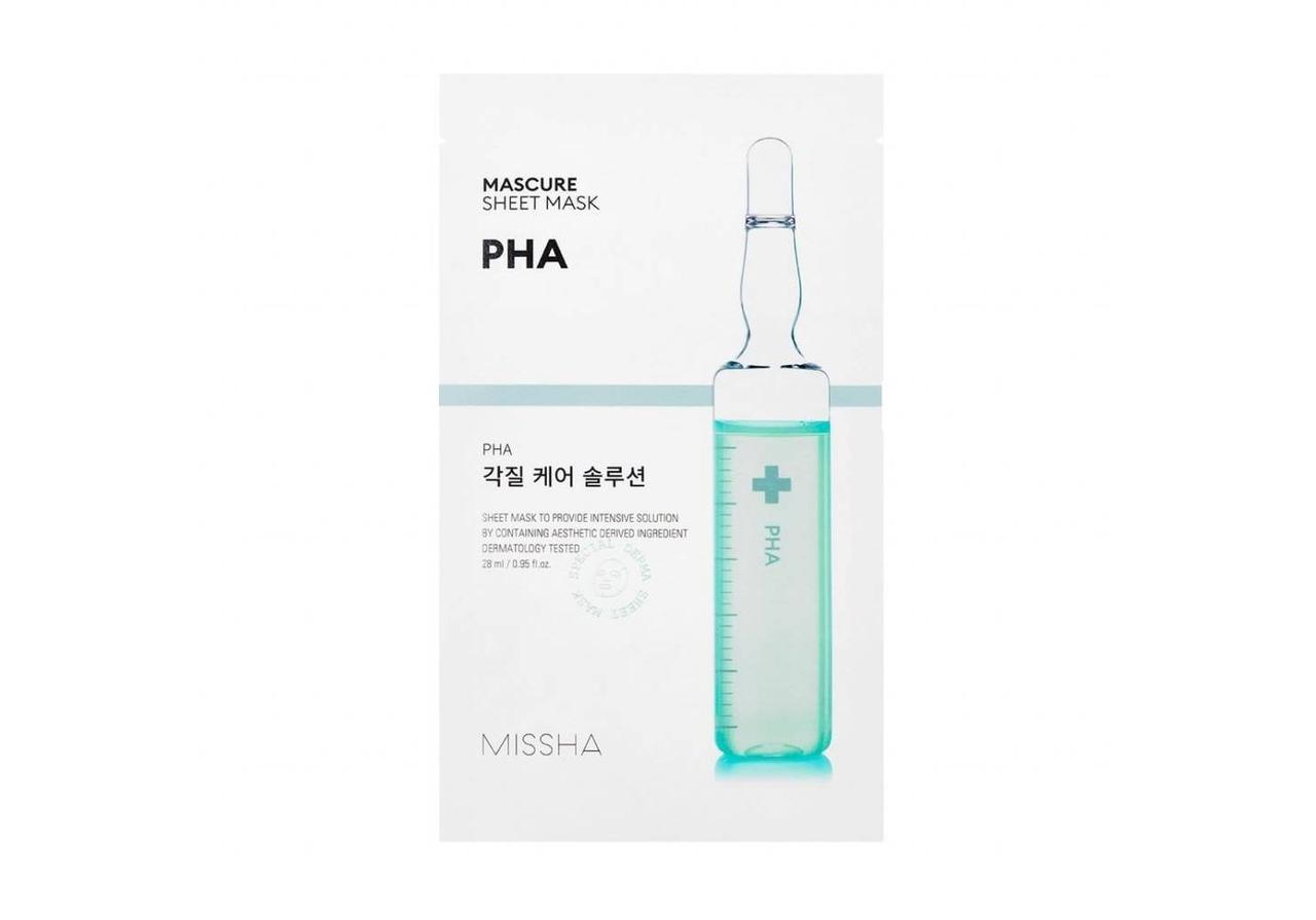 Маска для лица с эффектом пилинга Missha Mascure Peeling Solution Sheet Mask PHA 28 мл (8809581456563)