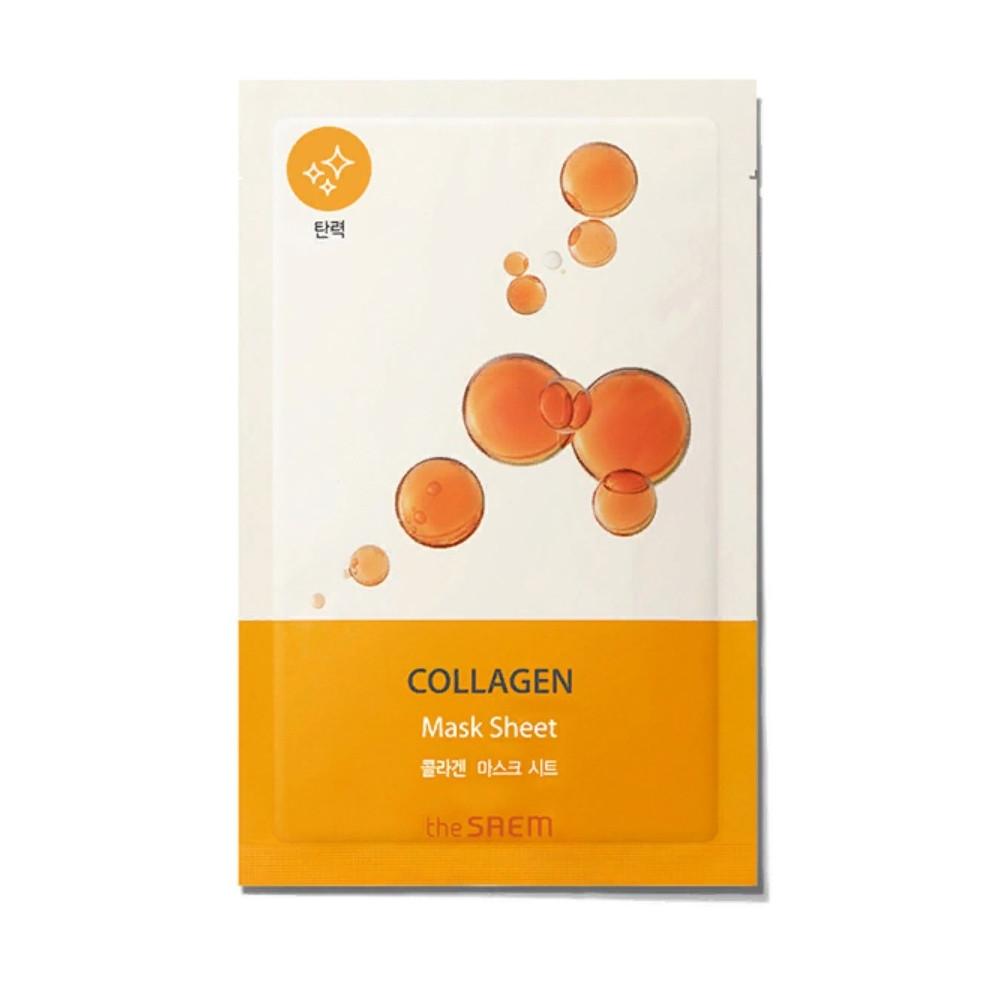 Тканевая био-маска для лица с коллагеном The Saem Bio Solution Firming Collagen Mask Sheet 22 мл (8806164164693)