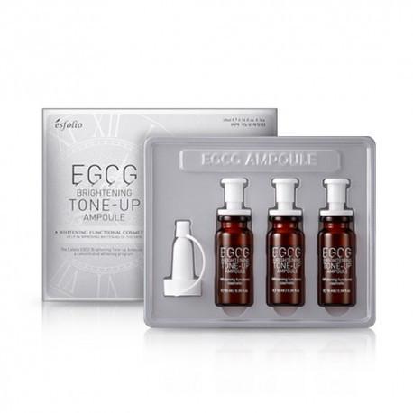 Набор осветляющих ампул для лица Esfolio EGCG Brightening Tone-Up Ampoule 3 шт (3х10 мл) (8809386885964)