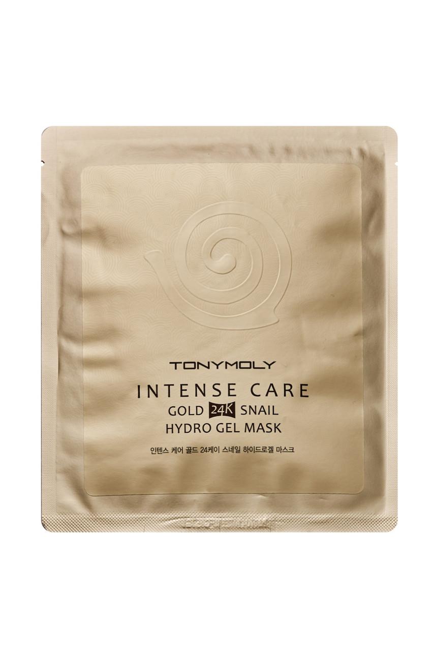 Улиточная гидрогелевая маска для лица с золотом Tony Moly Intense Care Gold 24K Snail Hydro Gel Mask 25 мл (8806358585624)