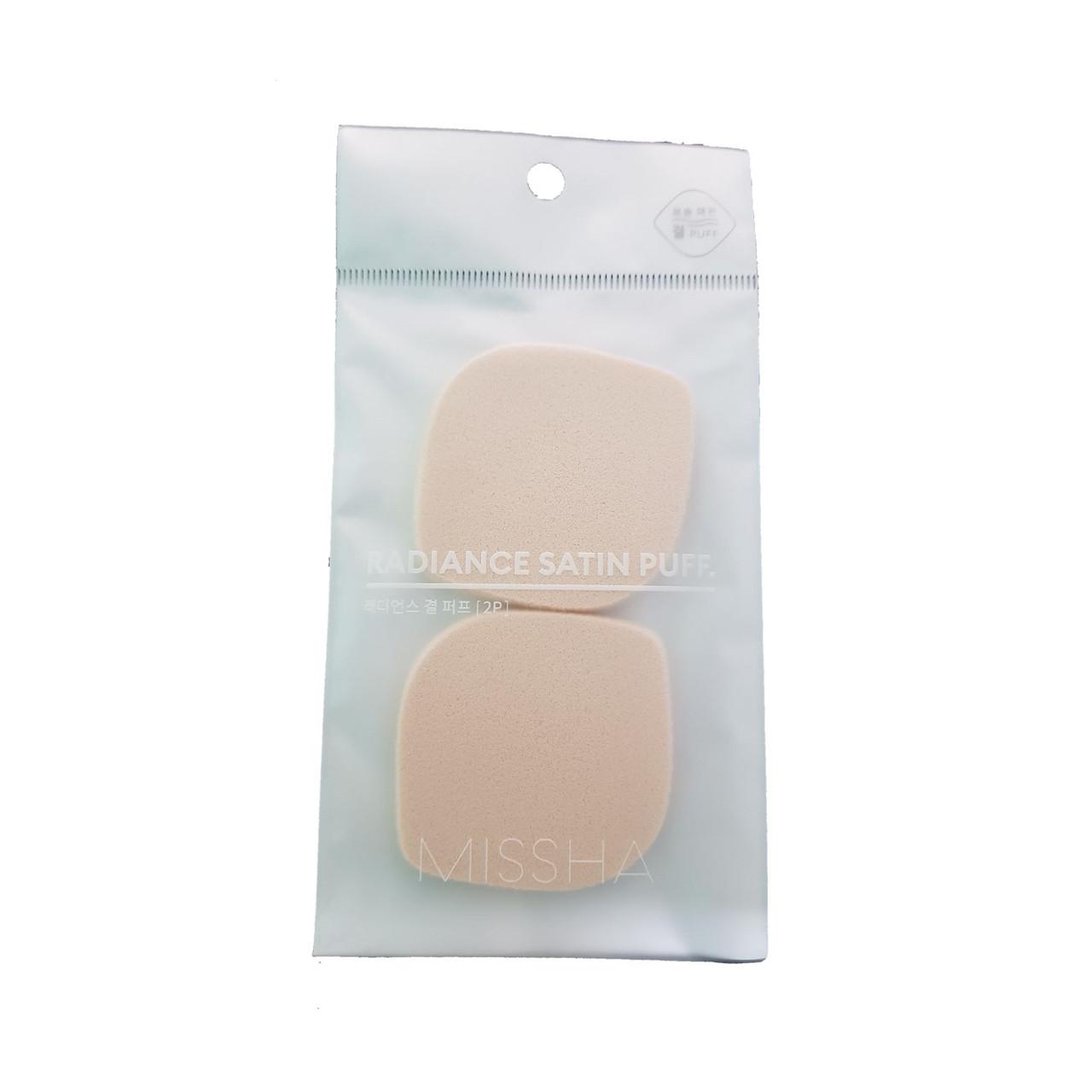 Спонж для макияжа сатиновый Missha Radiance Satin Puff 2 шт (8809530078631)