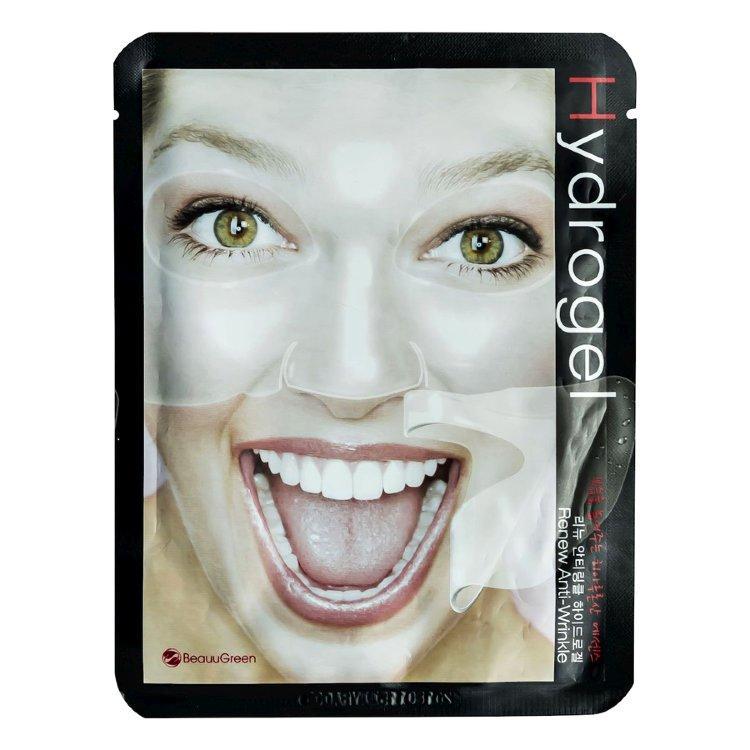 Антивозрастная маска для лица BeauuGreen Renew Anti-Wrinkle Hydrogel Mask 28 г (8809389033126)