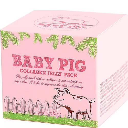 Маска с гиалуроновой кислотой и коллагеном смываемая Secret Key Baby Pig Collagen Jelly Pack 100 мл (8809305994944)