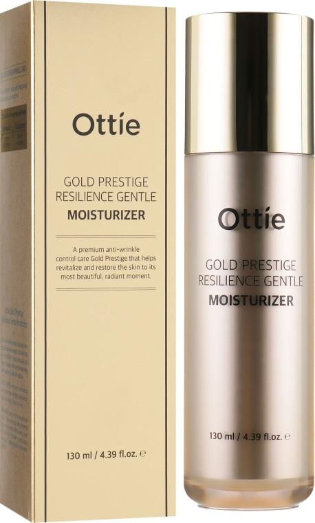 Антивозрастная увлажняющая эмульсия для упругости кожи лица Ottie Gold Prestige Resilience Gentle Moisturizer (8809276016591)