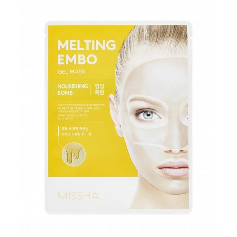 Тающая тонизирующая маска для лица Missha Melting Embo Gel Mask Nourishing Bomb 30 мл (8809581469969)