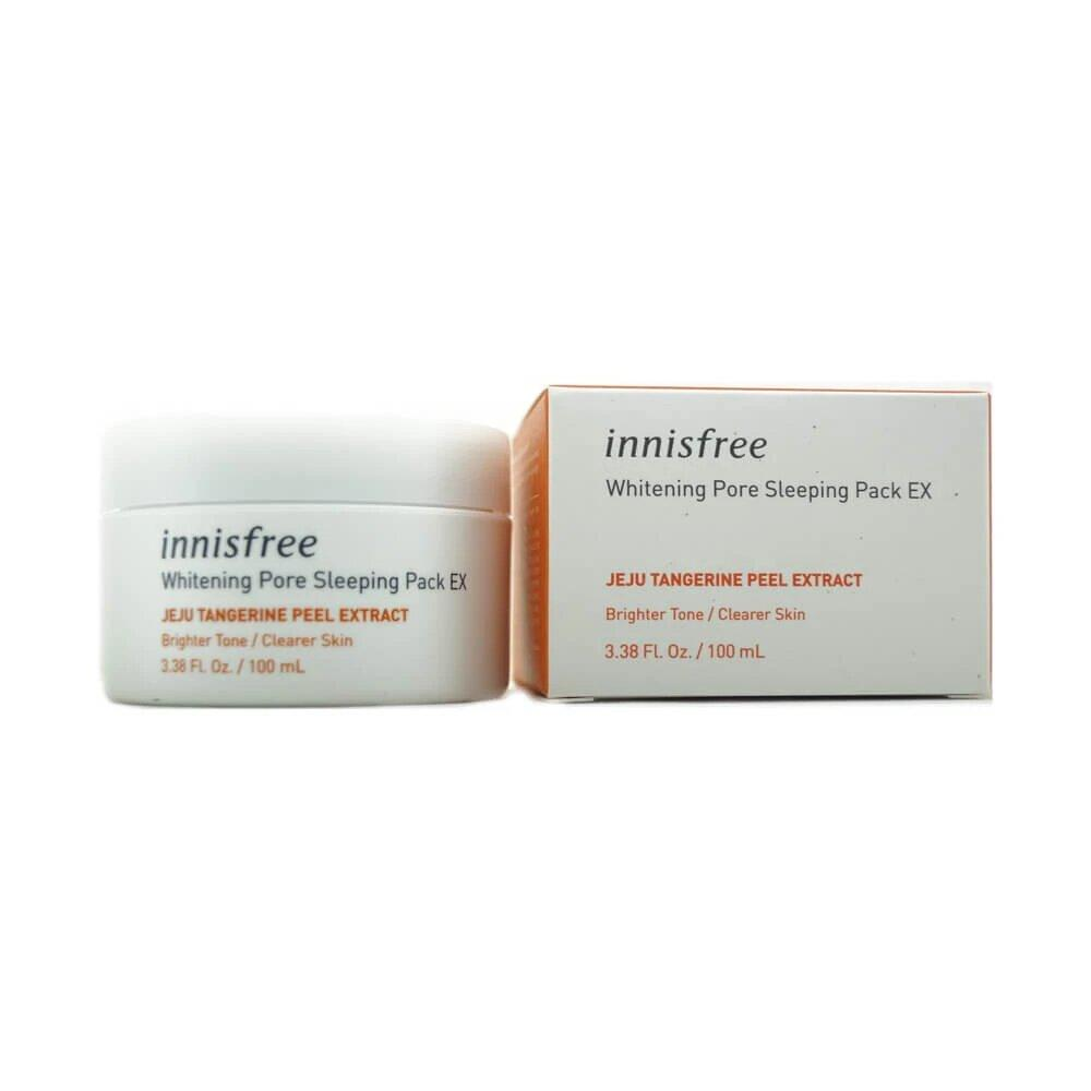 Ночная осветляющая и очищающая поры маска для лица Innisfree Whitening Pore Sleeping Pack Ex 100 мл (8809612856218)