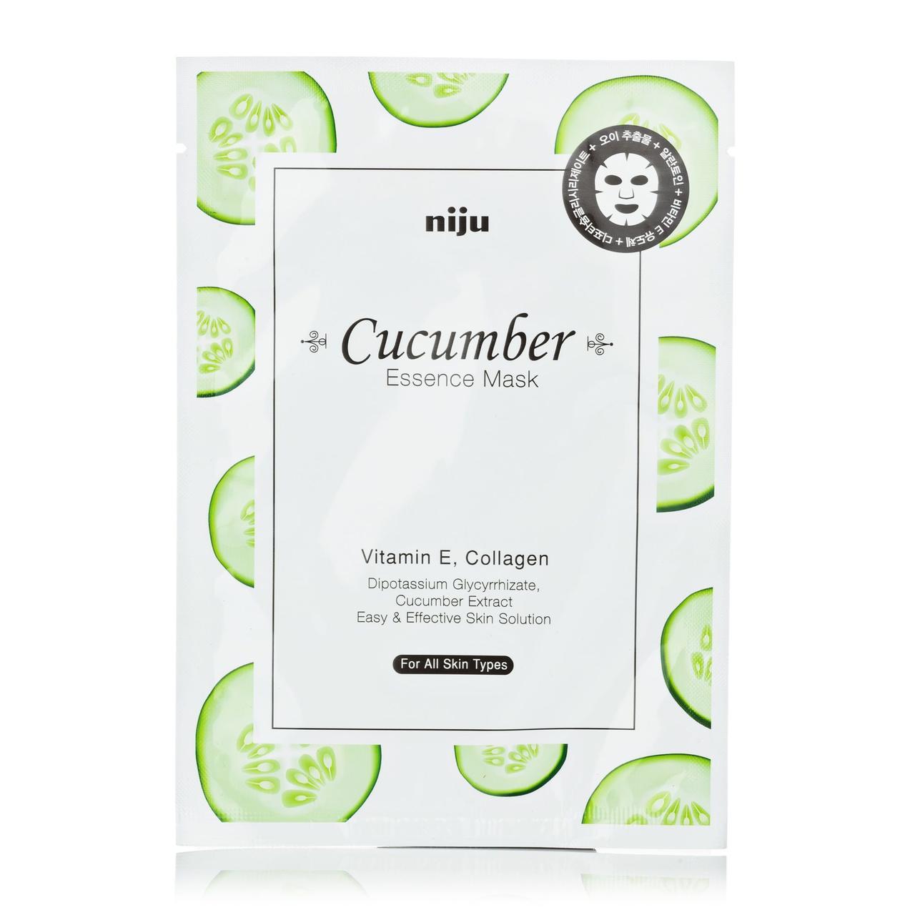 Увлажняющая маска для лица с экстрактом огурца Konad Niju Cucumber Essence Mask Skin Care 17 мл (8809109831223)