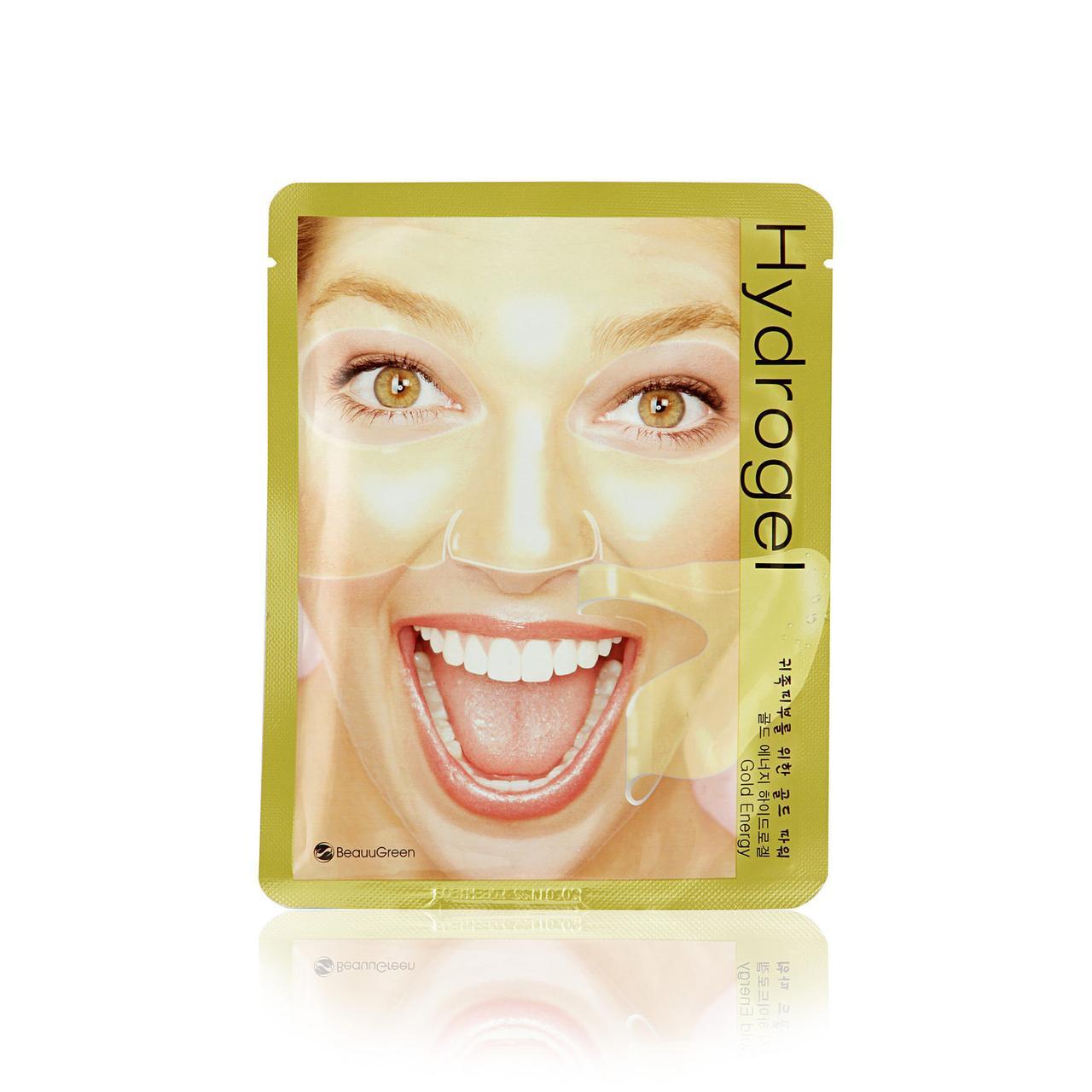 Гидрогелевая маска для лица с золотом BeauuGreen Gold Energy Hydrogel Mask 28 г (8809389030859)