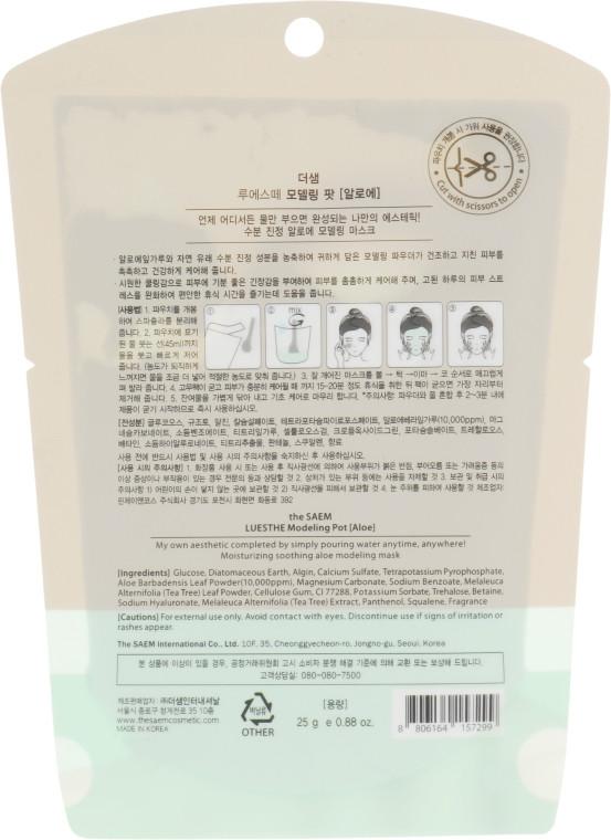 Альгинатная маска для лица с алое вера The Saem Luesthe Modeling Pot Aloe 25 мл (8806164157299)