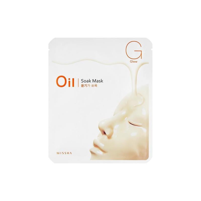 Придающая сияние маска для лица Missha Oil-Soak Mask Glow 25 г (8806185792943)