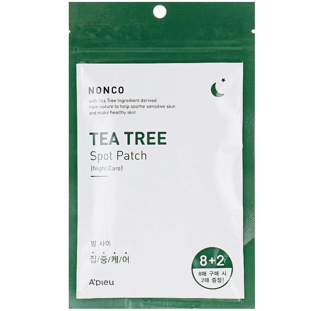 Локальные дневныепатчи от воспалений A'pieu Nonco Tea Tree Spot Patch 1 пачка (10 пластин)