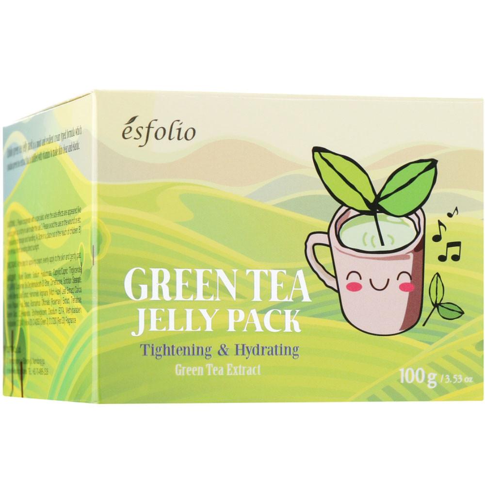 Гель-маска для лица с экстрактом зеленого чая Esfolio Green Tea Jelly Pack 100 мл (8809386886244)