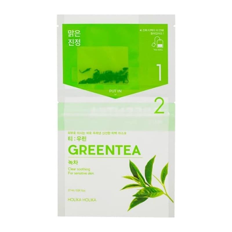 """Чайная маска для лица """"Зеленый чай"""" с противовоспалительным действием Holika Holika Tea Bag Mask Green Tea 27 (8806334380526)"""