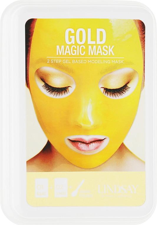 Альгинатная маска для лица с коллоидным золотом Lindsay Luxury 24K Gold Magic Mask 65 г + 15 г (8809371143901)
