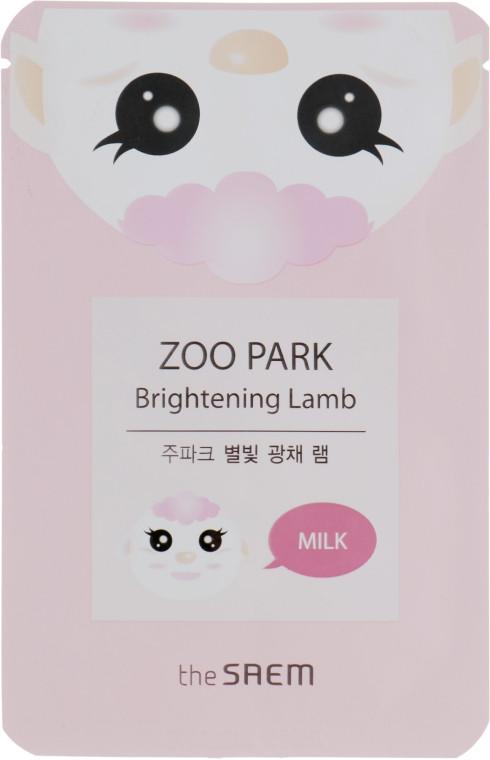Тканевая маска для лица с экстрактом козьего молока для сияния кожи The Saem Zoo Park Brightening Lamb 25 мл (8806164127797)
