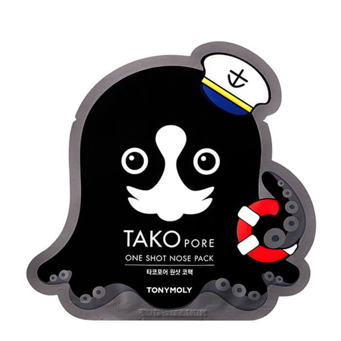Маска-пластырь от черных точек Tony Moly Tako Pore One Shot Nose Pack 15 г (8806194013046)