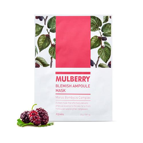 Ампульная маска для устранения покраснений на лице A'pieu Mulberry Blemish Ampoule Mask 23 г (8809643511636)