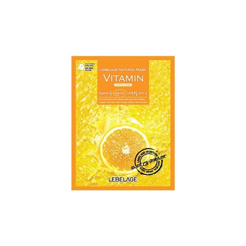 Осветляющая тканевая маска для лица с витаминами Lebelage Natural Mask Vitamin 23 г (8809383000483)