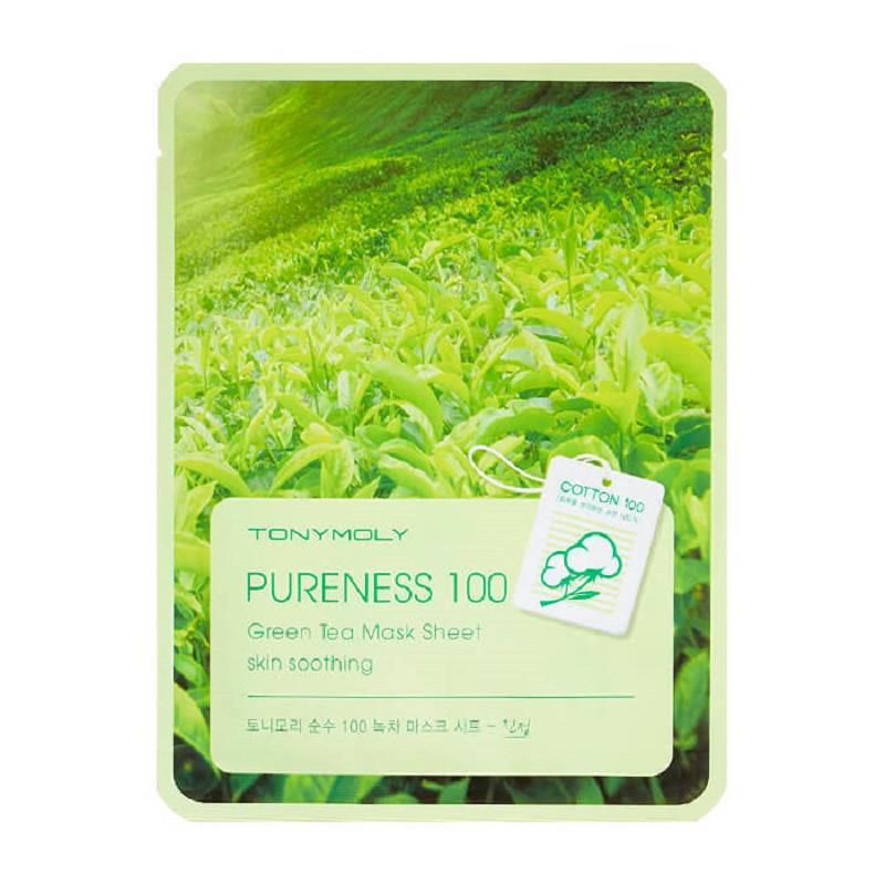 Успокаивающая тканевая маска для лица Tony Moly Pureness 100 Green Tea Mask Sheet 21 мл (8806358512323)