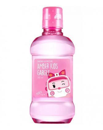 Ополаскиватель рта для детей с персиком Daeng Gi Meo Ri Amber Kids Gargle Peach 260 мл (8807779090216)