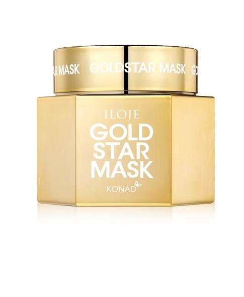 Маска для лица с эффектом сияния Konad Iloje Gold Star Mask Skin Care 50 мл (8809433726790)