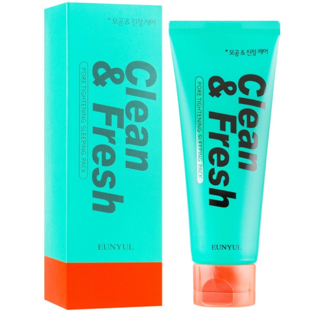 Ночная маска для сужения пор Eunyul Clean & Fresh Pore Tightening Sleeping Pack 120 мл (8809435404269)