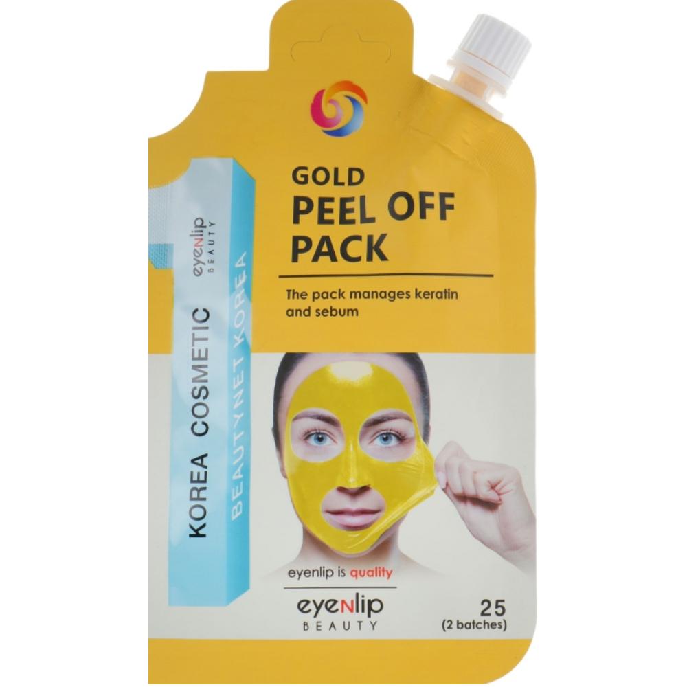 Золотая маска-плёнка для очищения пор Eyenlip Gold Peel Off Pack 25 г (8809555250777)