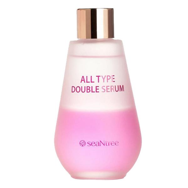 Увлажняющая двухфазная сыворотка для лица для всех типоу кожи SeaNtree All Type Double Serum 100 мл (8809476696951)