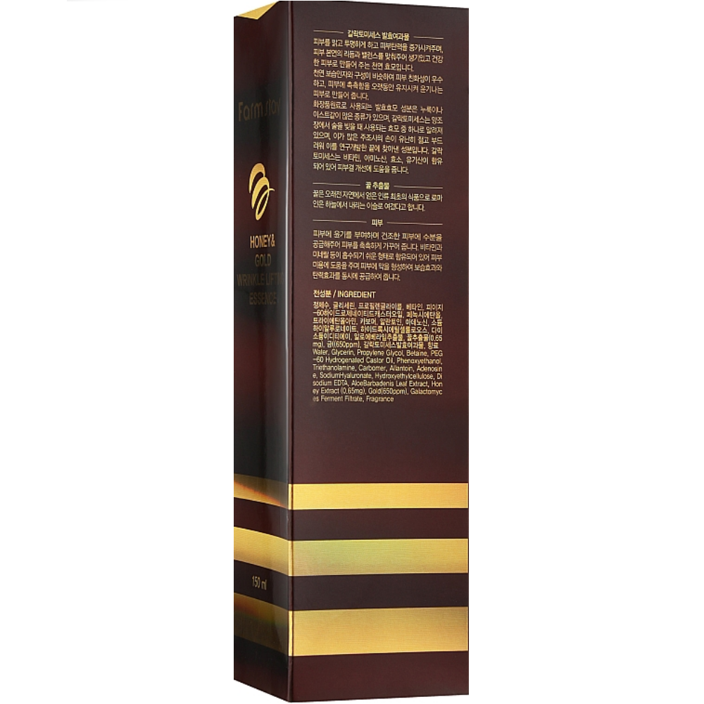 Омолаживающая эссенция для лица с экстрактом золота и меда Farmstay Honey & Gold Wrinkle Lifting Essence 130мл (8809426954957)