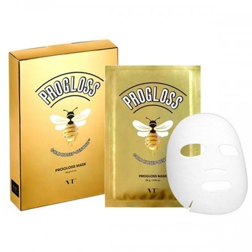 Набор тканевых масок для лица с прополисом и маточным молочком VT Cosmetics Progloss Mask 6*28 г (8809695670442)