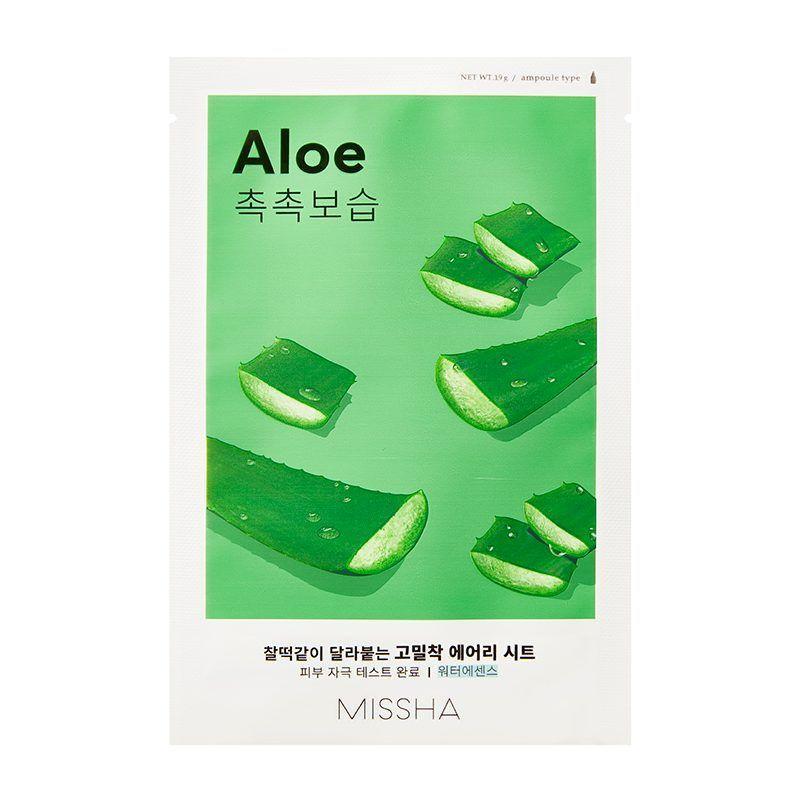 Увлажняющая маска для лица с экстрактом алоэ Missha Airy Fit Sheet Mask Aloe 19 г (8809581454743)