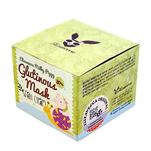 Ночная крем-маска с фильтратом улитки Elizavecca Milky Piggy Glutinous Mask Snail Cream 100 мл (8809418750130)