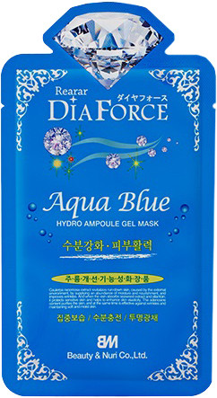 Гидрогелевая маска для лица с морским комплексом Rearar DiaForce Aqua Blue Hydro Ampoule Gel Mask 1 шт (8809389038060)