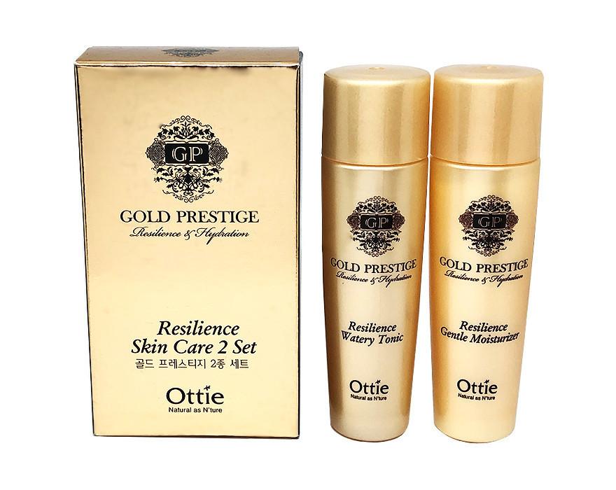 Набор увлажняющих мини-версий тонера и эссенции для лица Ottie Gold Prestige Resilience Skin Care 2 Set 30+30 (1636)