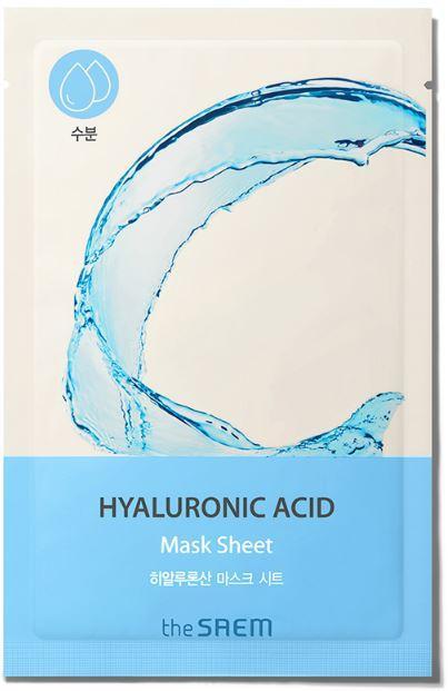 Увлажняющая тканевая маска для лица с гиалуроновой кислотой The Saem Bio Solution Hydrating Hyaluronic Acid (8806164164686)