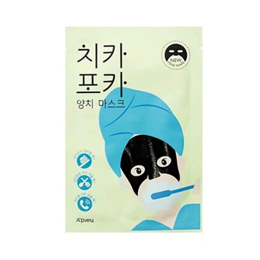 Утренняя тканевая маска для увлажнения кожи лица A'pieu Chi Ka Po Ka Tooth Brushing Mask 17 г (8809581450882)