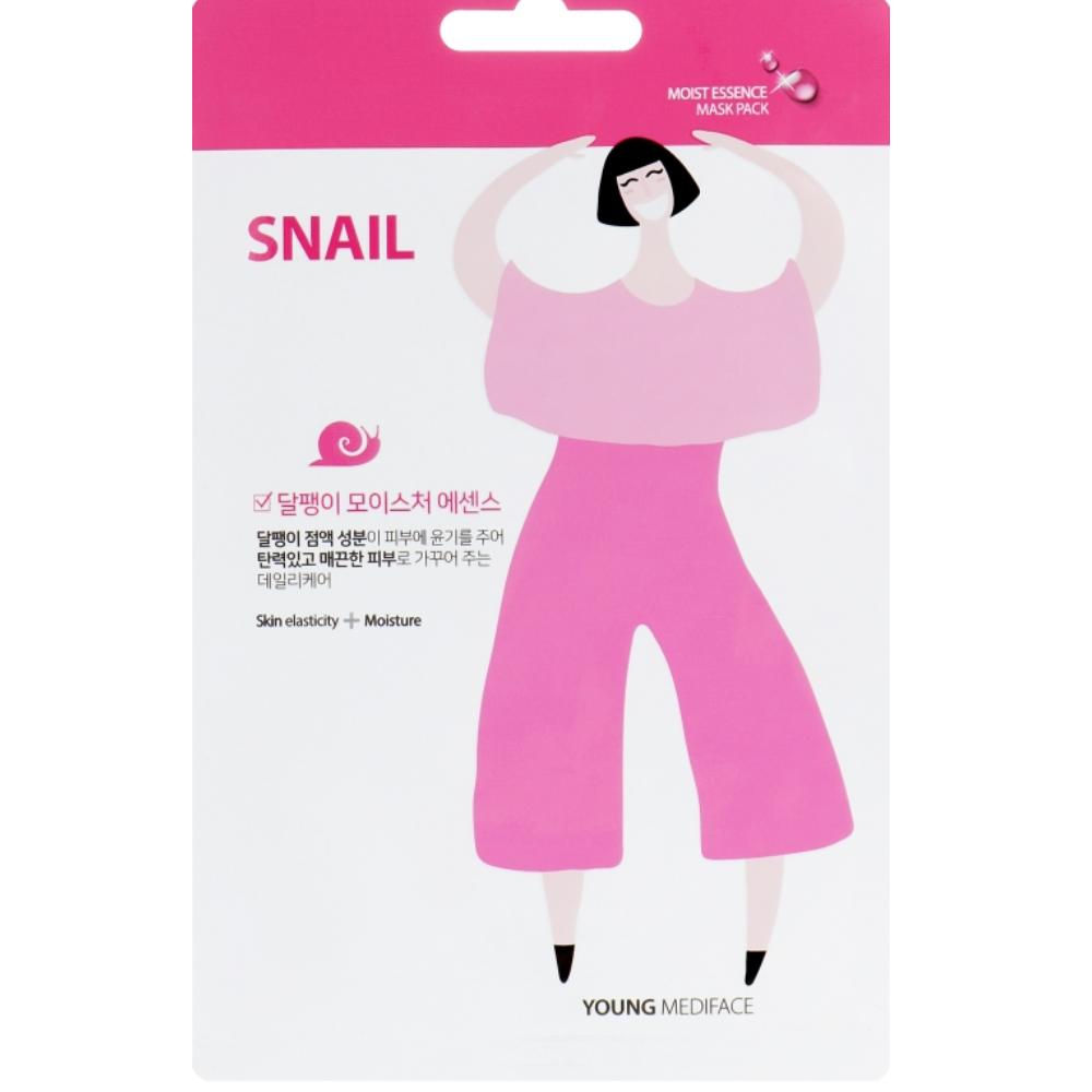 Восстанавливающая маска для лица с улиточным муцином Young Mediface Snail Mask Pack 25 г (8809520250207)