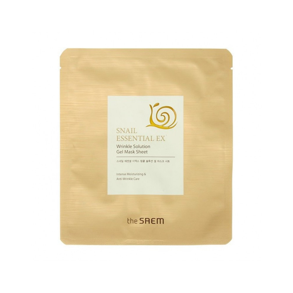 Маска для лица антивозрастная The Saem Snail Essential Ex Wrinkle Solution Gel Mask 28 г (8806164126301)