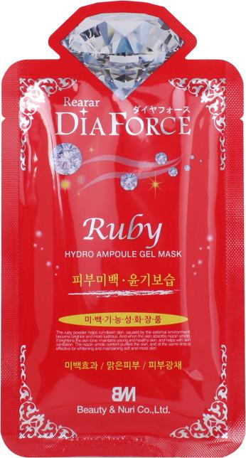 Гидрогелевая маска для лица с рубиновой пудрой Rearar DiaForce Ruby Hydro Ampoule Gel Mask 1 шт (8809389038053)