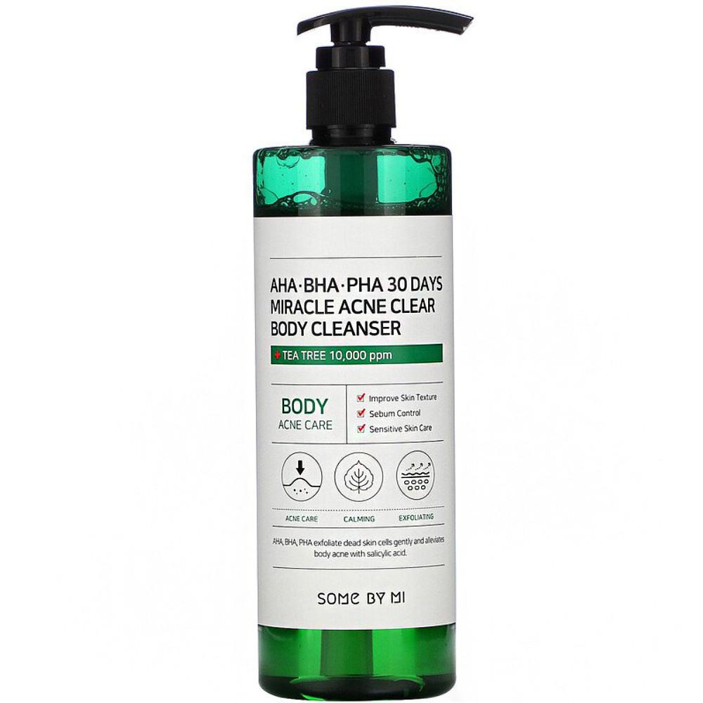 Гель для душа для проблемной кожи тела Some By Mi AHA-BHA-PHA 30 Days Miracle Acne Clear Body Cleanser 400 г (8809647390725)