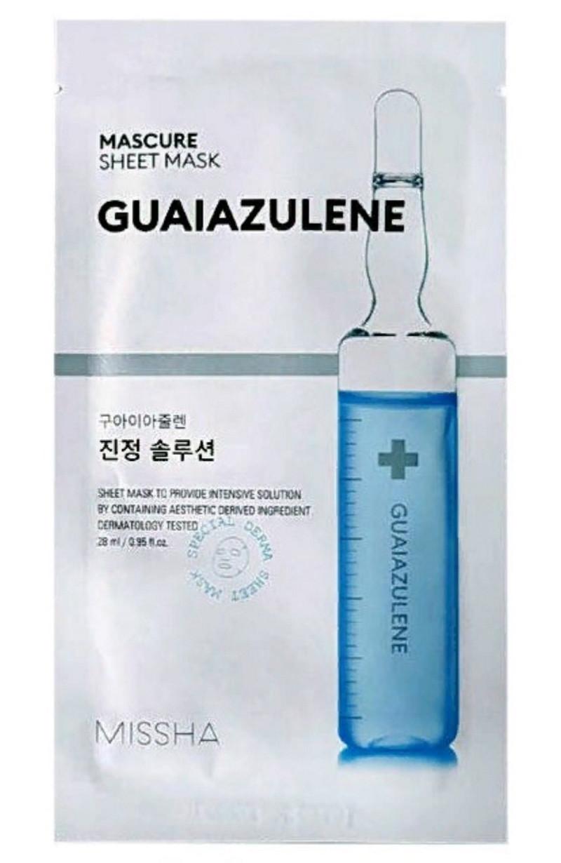 Регенерирующая маска для лица Missha Mascure Calming Solution Sheet Mask Guaiazulene 28 мл (8809581456617)