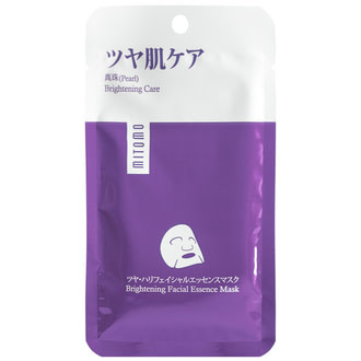 Mаска для лица премиум с жемчугом (осветляющий эффект) Mitomo Pearl Brightening Facial Essence Mask 25 г (4582419534001)