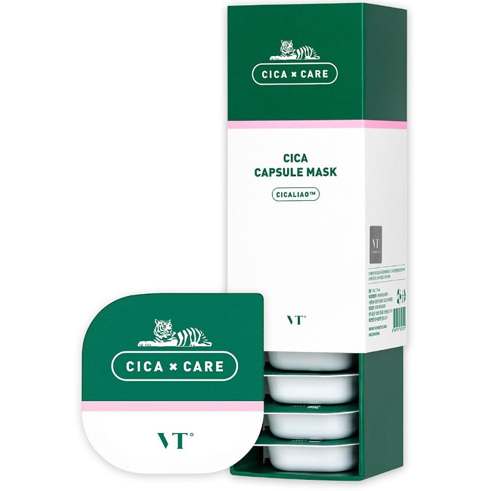 Глиняная очищающая маска для чувствительной кожи лица VT Cosmetics Cica Capsule Mask 7,5 г (3051)