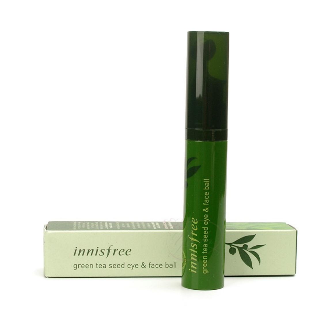 Сыворотка от морщин с экстрактом зеленого чая Innisfree Green Tea Seed Eye & Face Ball 10 мл (8809612850490)